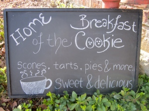 Red Barn Bakery Breakfast Cookie Sign